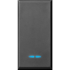 Button Ave Tekla black color 1P NA 10A illuminated 445005