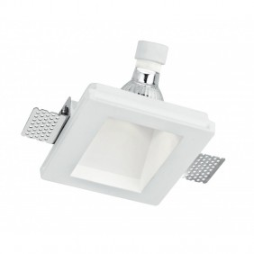 Spotlight Fan Europe-recessed in plaster White square INC-GHOST-Q1D