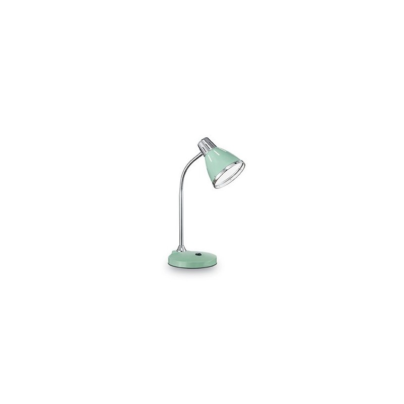 Lampada da tavolo ideal lux elvis tl1 colore verde 1xe27 - Lampada da tavolo verde ...