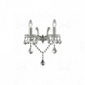 Applique Ideal Lux Florian AP2 chrome glass...
