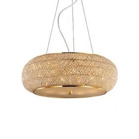 Sospensione Ideal Lux Pashà SP10 colore oro 10XE14 IP20 082257