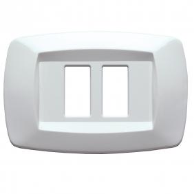 La placa Master Maneras blanco, 2 asientos de cierre para la serie magic MD10RT