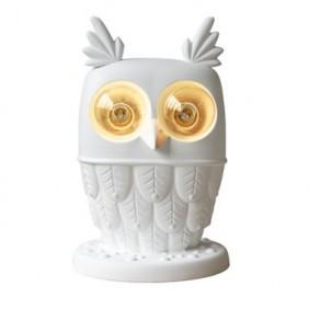 Lámpara de mesa por Karman.Veo cerámica blanca 2XE27 CT105 1B INT