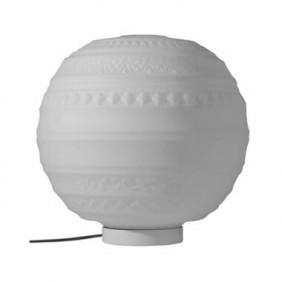 Lámpara de mesa por Karman en Braille 1XE27 blanco cristal esmerilado CT144 2B INT
