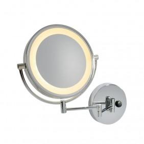 Lampada da parete a specchio SLV Vissardo cromata LED 3000K, IP21 149782