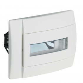 BTICINO SWITCHBOARD FLUSH-MOUNTING WHITE-AND-GLASS 6 MODULES