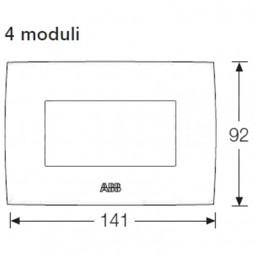 ABB CHIARA PLATE 4 MODULES WHITE 2CSK0401CH