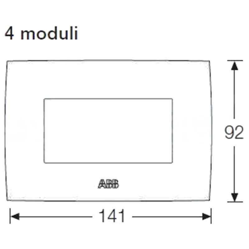 ABB CHIARA PLACCA 4 MODULI VULCANO 2CSK0404CH