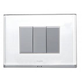 Plaque Brain white 3 modules Beghelli 81232