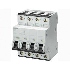 Circuit breaker Siemens 4P 6A 10kA Type C 4 Modules
