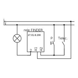 Finder relè interruttore ad impulsi 230v 27018230