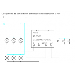 Buscador de interruptor de relé y un pulso 230v FIN27058230