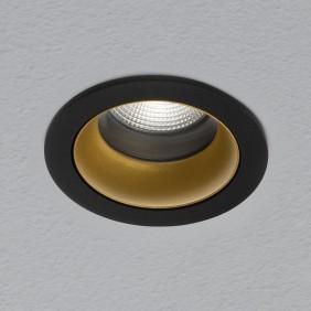 Spotlight AqLus Chic encastré rond LED 10W 3000k noir/or A5-605.10.300213