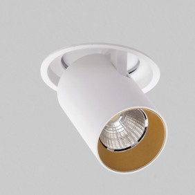 Faretto AqLus Mike incasso LED 10W 3000k bianco e oro A5-678.103008A13