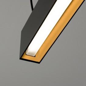 Sospensione AqLus Timber Soft Mono LED 30W 3000k nero oro A8660S1123002T13