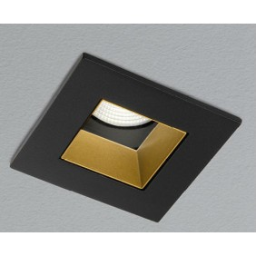 Faretto AqLus Chic incasso quadro LED 10W 3000k nero/oro A5-606.10.300213