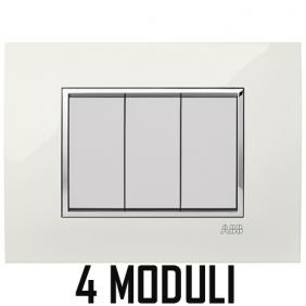 ABB MYLOS PLACCA SQUARE LUCENT 4 MODULI 2CSY0401QLP
