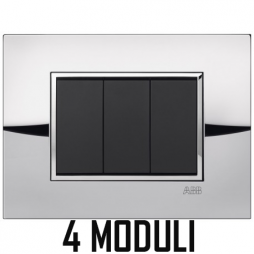 ABB MYLOS PLACCA SQUARE METAL 4 MODULI 2CSY0406QLZ