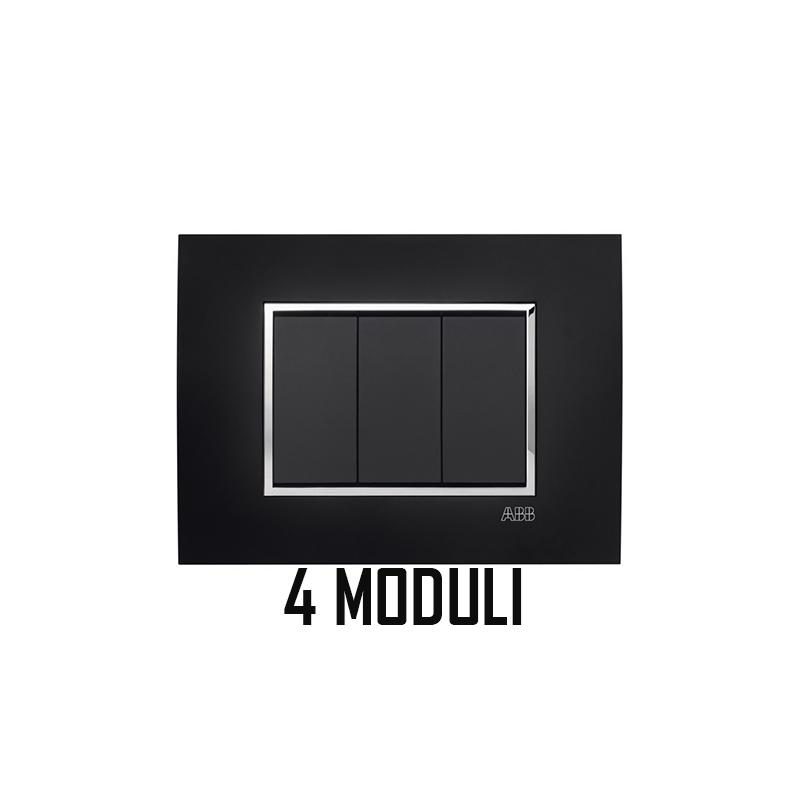 ABB MYLOS PLACCA SQUARE VELVET 4 MODULI 2CSY0423QSP