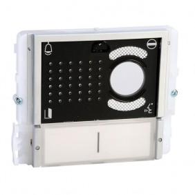 Módulo de Comelit 2 botones de audio/video de la serie Ikall Negro 33412