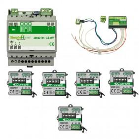 Kit Comelit domotico per gestione di  5 tapparelle 20001016