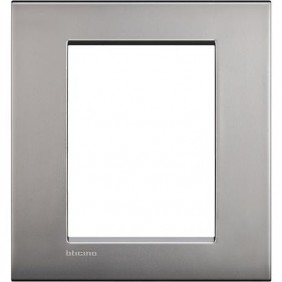 Bticino LivingLight AIR, 3+3 seats satin nickel LNC4826NK