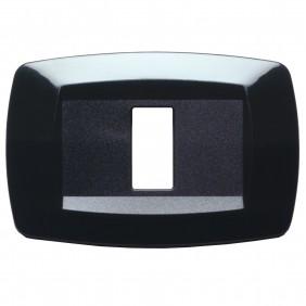 Master Modì for Bticino plate 1 module black MD201