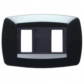 Master Modì for Bticino plate 2 modules black...