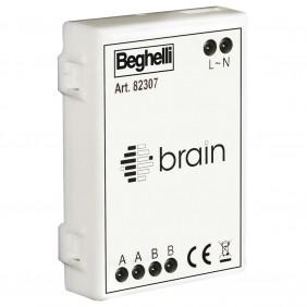 Attuatore Brain radio per contatti puliti colore arancio Beghelli 82307