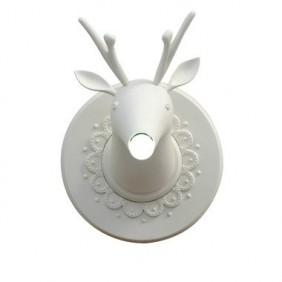 Applique Karman Marnin cervo ceramica bianca opaca 1XE27 AP645M
