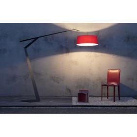 Lampada da terra Lumen Center Italia Grus rossa 3XE27 IP20 GRU123R