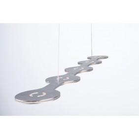 Sospensione Lumen Center Italia Flat 05 alluminio LED 31.5W FLA0517227