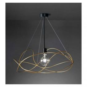 Sospensione Marchetti Garbuglio oro 1XE27 sfera in vetro 055.023.02.08