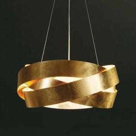 Sospensione Marchetti Pura foglia oro LED 24W IP20 055.325.65.20