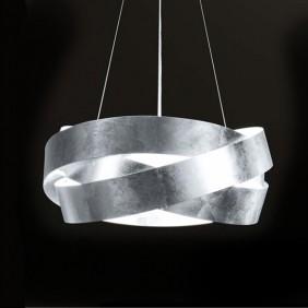 Sospensione Marchetti Pura foglia argento LED 24W IP20 055.325.65.21