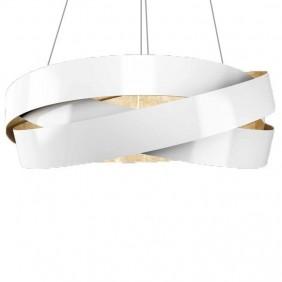 Sospensione Marchetti Pura foglia bianca ed oro LED 24W 055.325.65.2420