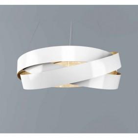 Sospensione Marchetti Pura foglia bianca e rame LED 24W 055.325.65.2422