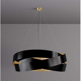 Sospensione Marchetti Pura foglia nera ed oro LED 24W 055.325.65.3520