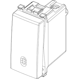 Vimar Arke Pulsante illuminabile 1P 10A Bianco