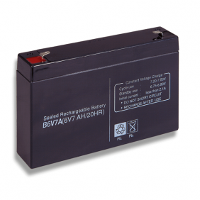 Lead acid battery 6V 7Ah Cobat Included B6V7A