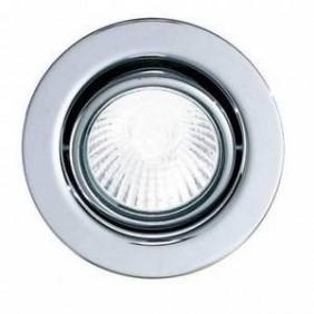 Faretto Nobile incasso cromo a soffitto foro 63mm 4111/H/CR