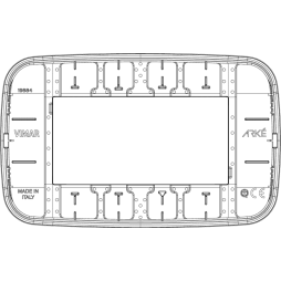 Placca Vimar Arke Round 4 Moduli nero 19684.81