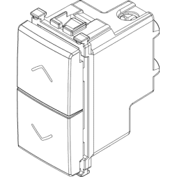 Vimar Arke Due pulsanti interbloccati NO+NO 10A grigio 19062