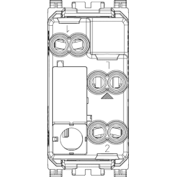 Vimar Arke Deviatore 1P 16AX assiale grigio 19105