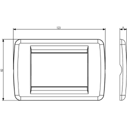 VIMAR IDEA PLAQUE RONDO 3-MODULE 16763.15