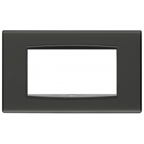 Plate Vimar Eikon Classic Reflex 4 modules grey colour 20654.40