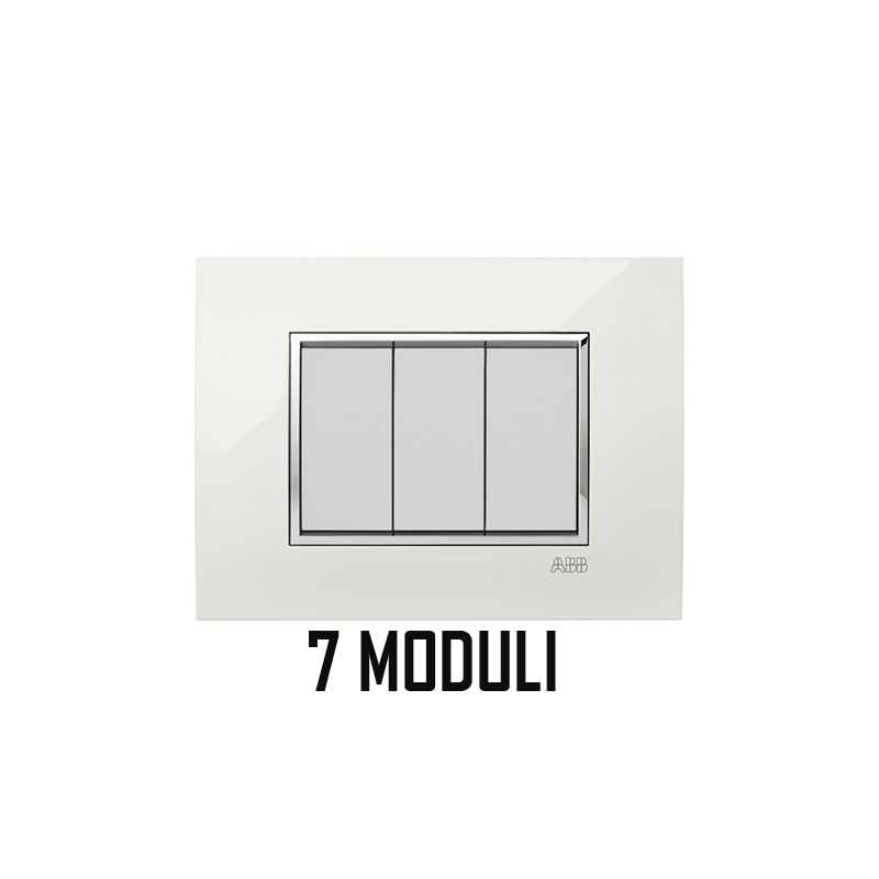 ABB MYLOS PLACCA SQUARE LUCENT 7 MODULI 2CSY0701QLP
