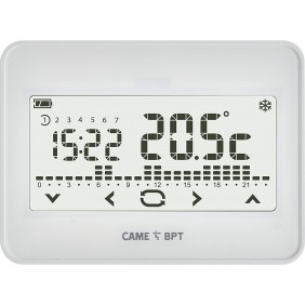 Programmable thermostat BPT touch screen wifi wall white 845AA-0060