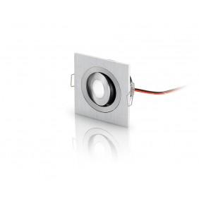 Faretto LED Nobile orientabile quadrato 3W 3000K 180 lumen IP20 91100/45/3K