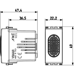 Vimar Arke Ronzatore 230V 50-60Hz grigio 19378